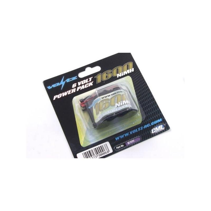 Bateria 6.0V 1600mAh Ni-MH Pirâmide