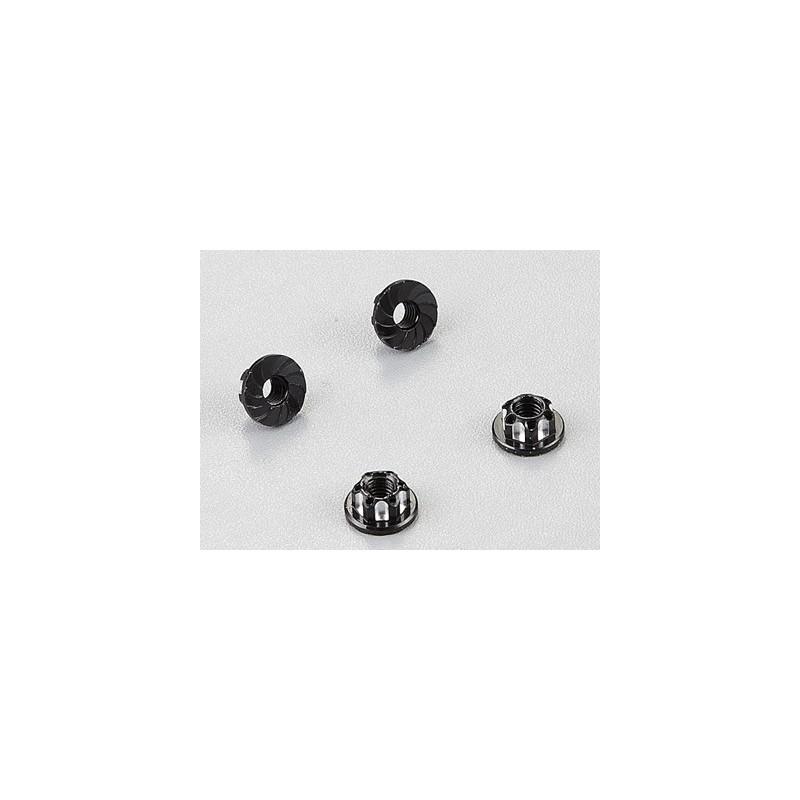 Killerbody Aluminium Wheel Nuts (Black) 4 pçs