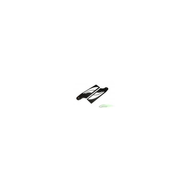 SAB 70mm Carbon Fiber Black/White Tail Blade
