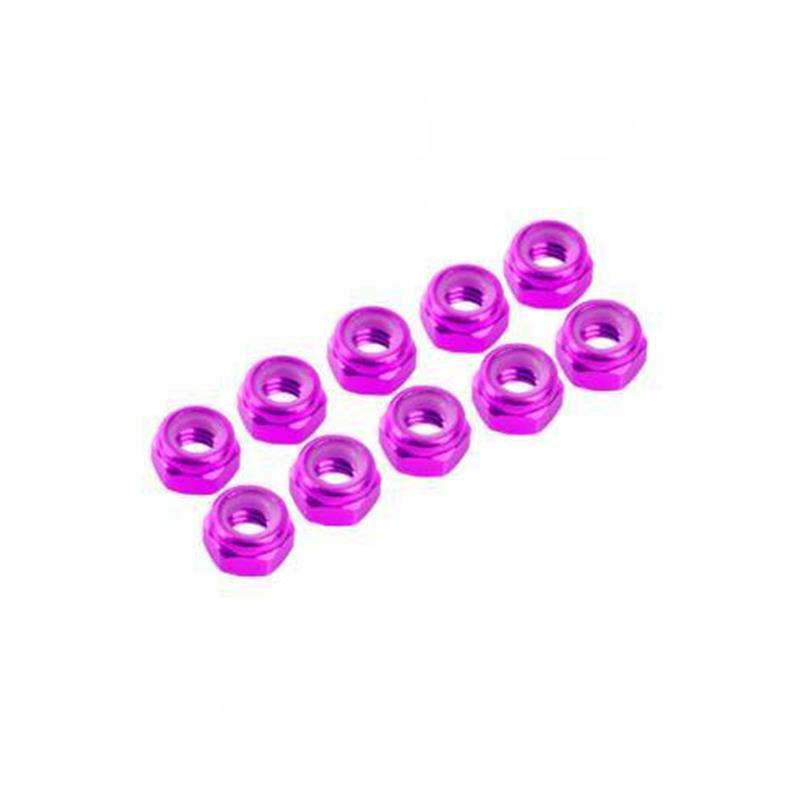 Porcas Autorroscante M3 Alúminio Rosa (10pcs)