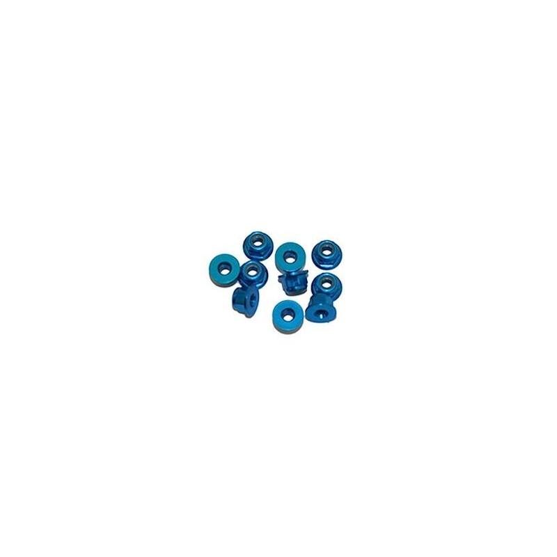Porcas Autorroscante Flange M3 Alúminio Azul (10pcs)