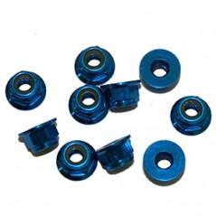 Porcas Autorroscante  Flange M4 Alúminio Azul (10pcs)