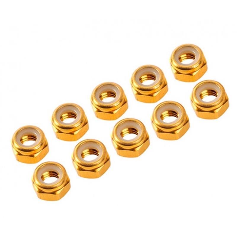 Porcas Autorroscante M3 Alúminio Dourado (10pcs)