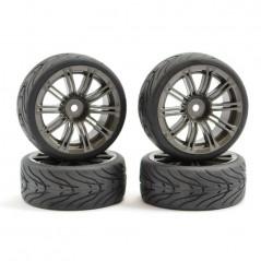 Fastrax Pneus Drift 1/10 Street Tyre Metálico.