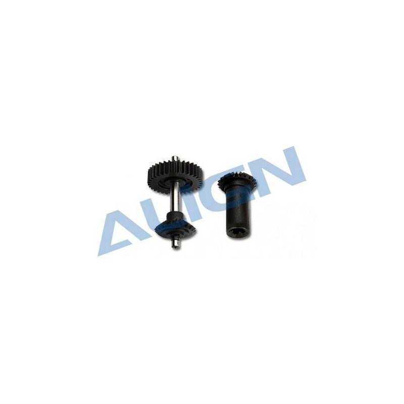 Align T-REX 600PRO/600EFL PRO/550E M0.8 Torque Tube Front Drive Gear Set 34T