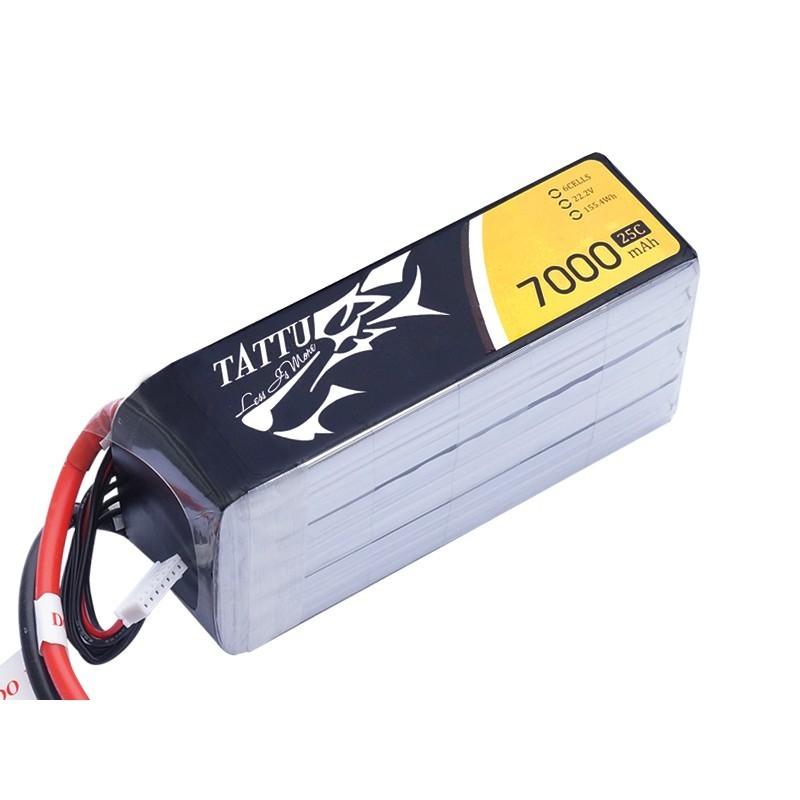TATTU Bateria Lipo 7000mAh 22.2V 25C 6S1P