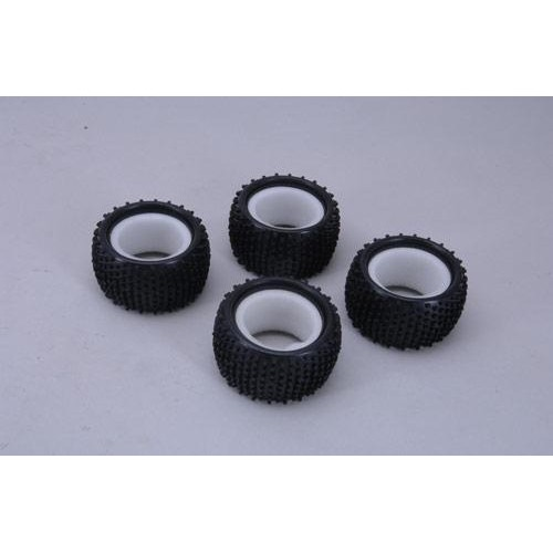 XTM Racing Tyres W/Inserts - Pins (4Pk) (Rage)