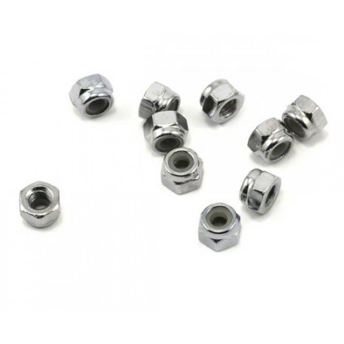 Traxxas Porcas, 4mm nylon locking (10)