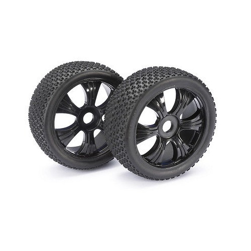 Absima Wheel Set LP Buggy Dirt Black 1:8 (2)