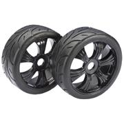 Absima Wheel Set LP Buggy Street Black 1:8 (2pcs)