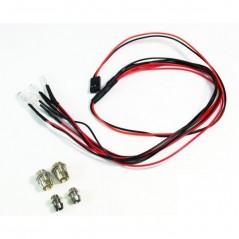 Absima LED set white/red with aluminum holder