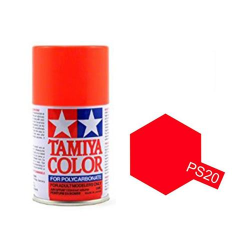 Tamiya PS-20 Flourescent Red Polycarbonate 100ml