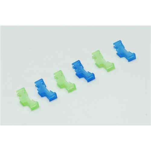 Ripmax Safety Lead Lock - Green/Blue (Pack of 6)