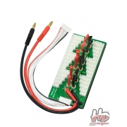 Hextronik Parallel Charging Board for 6 Packs - Bare Leads
