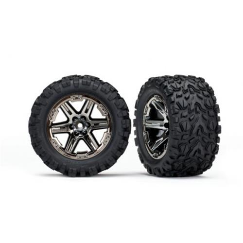 "Traxxas Tires & wheels, assembled, glued (2.8"") (RXT black)"