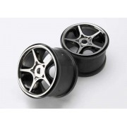 Traxxas Wheels Gemini 3.8 Black Chrome (2) 17mm Spline