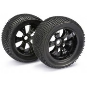 Absima Wheel Set LP Truggy Dirt Schwarz 1:8 (2 pcs)