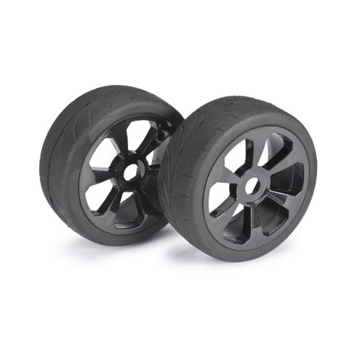 Absima Wheel Set LP Buggy 6 Spoke/Street Black 1:8 (2pcs)