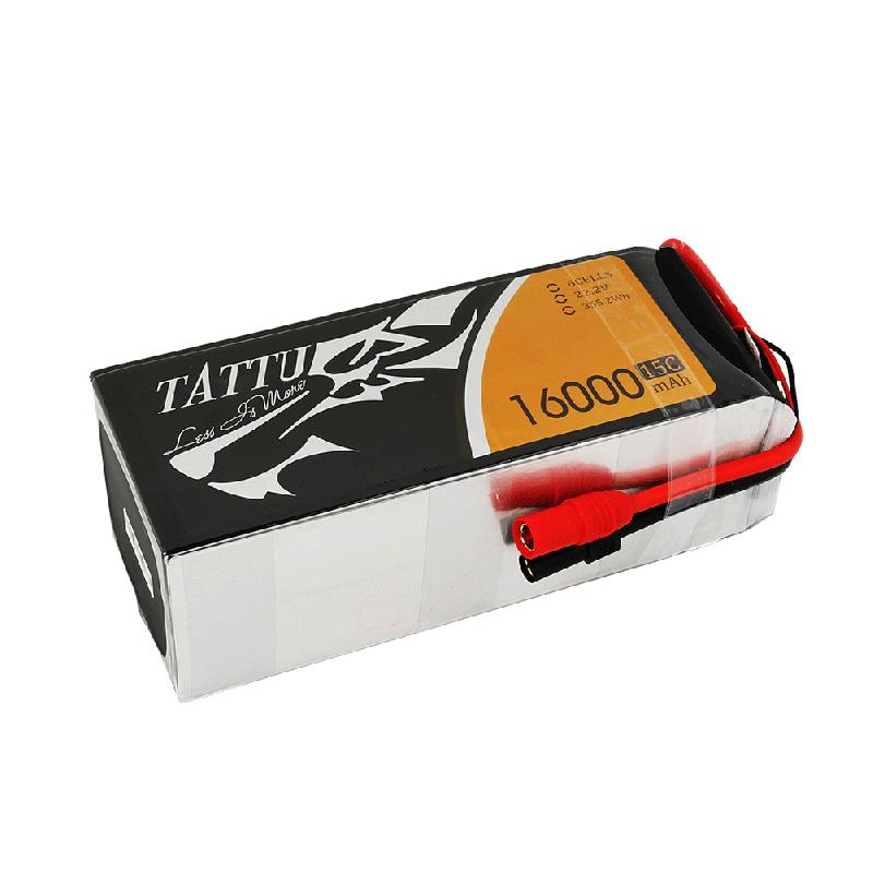 TATTU Bateria Lipo 16000mAh 22.2V 15/30C 6S1P