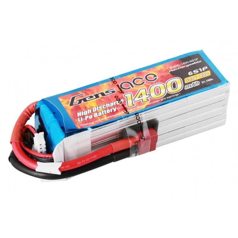 Bateria Lipo Gens Ace 40C 1400mAh 6S1P